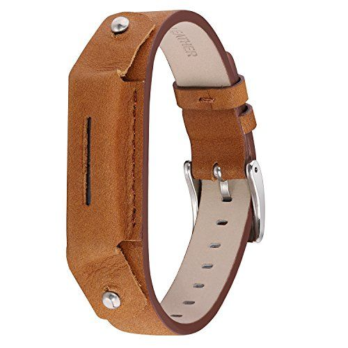 HOMEKE Premium Leather Bands for Fitbit Flex 2 Elegant Swimproof Fitness Wristband Free Size and Multicolor Optional *** You can get more details by clicking on the image.