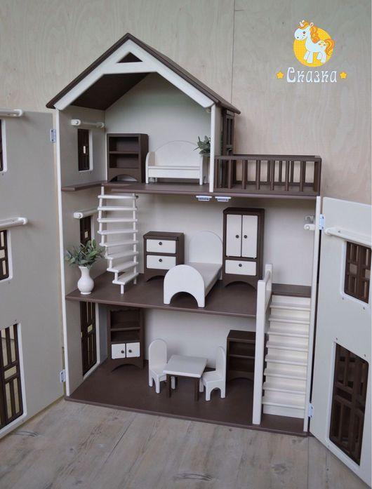 Кукольный дом ручной работы. Ярмарка Мастеров - ручная работа. Купить Кукольный домик. Handmade. Кукольный дом, дом для барби