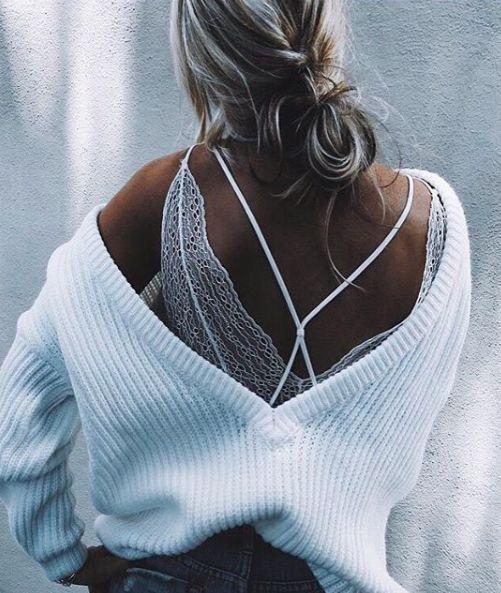 Pinterest: kapu_keiki • v back sweater