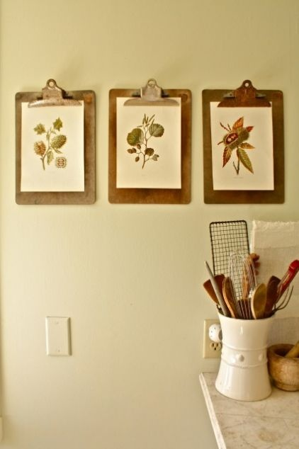 Cute - clip boards to hang images - Design by Scarlett Fiona Reed, photo by Shannon Malone