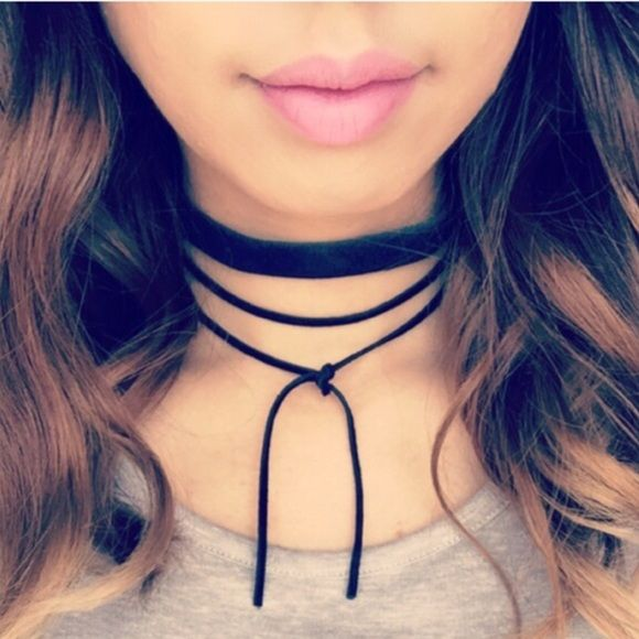 Cinderella choker/all tied up wrap Handmade with  Cinderella suede choker and…