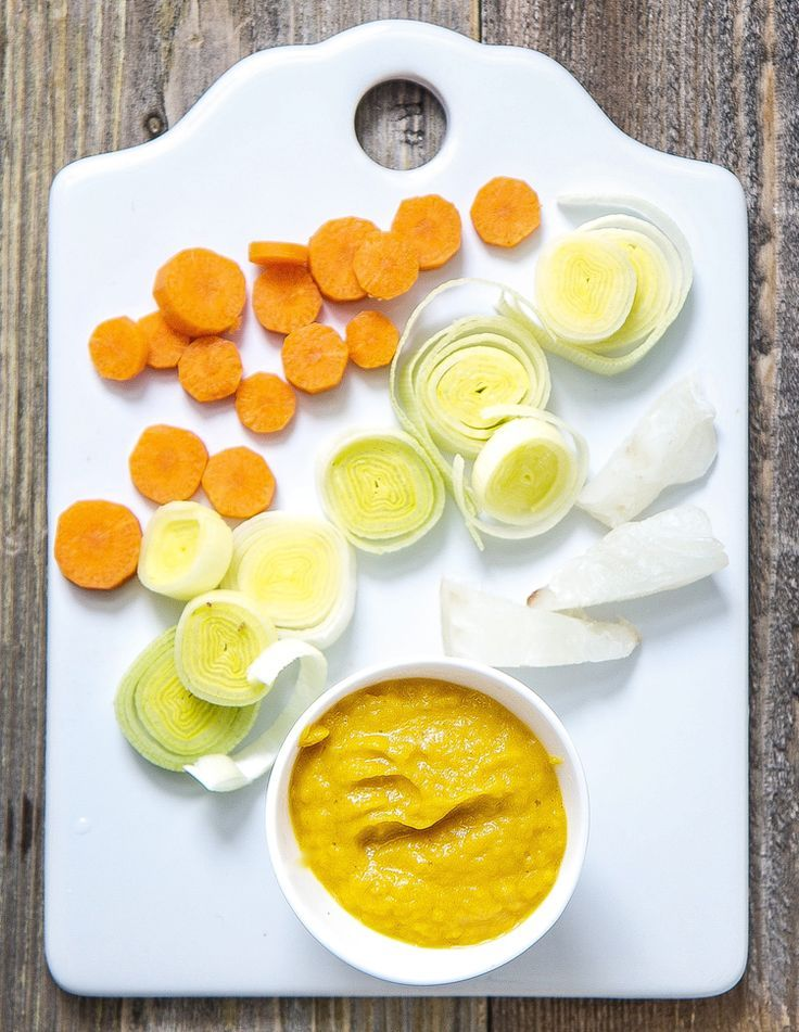 White fish carrot leek puree rezepte for Baby fish food