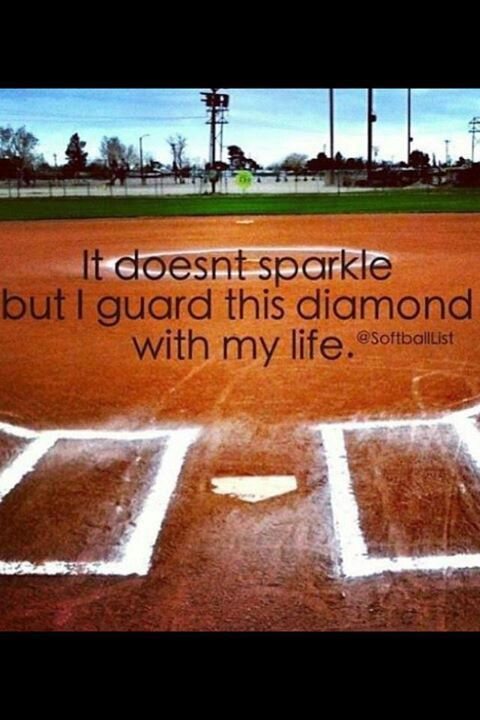 Softball takes a true devotion that few truly possess..makes me think of Sara!