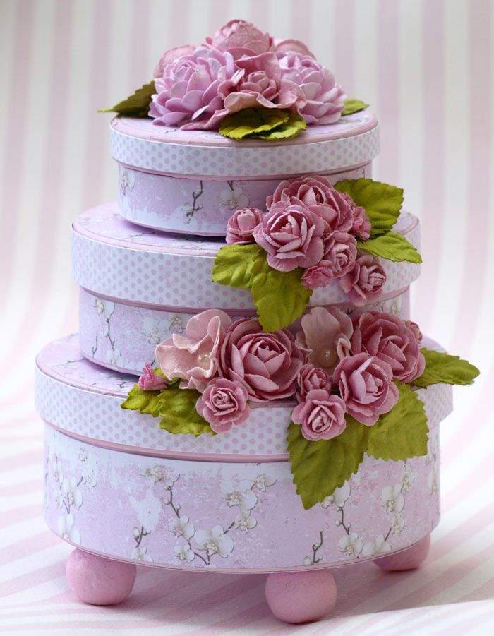 This cake was published in Inzpira August issue. I used paper and flowers from Papirdesign.