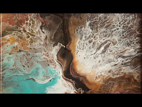 Acrylic pour/different technique with a nice surprise - Suzana Dancks, using a hair dryer to get great feathery effects. Also unique pourings. No attempt to include cells. Lovely stuff.