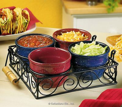 Old Town Condiment Bowls Set - so much better that all the plain ones out there!