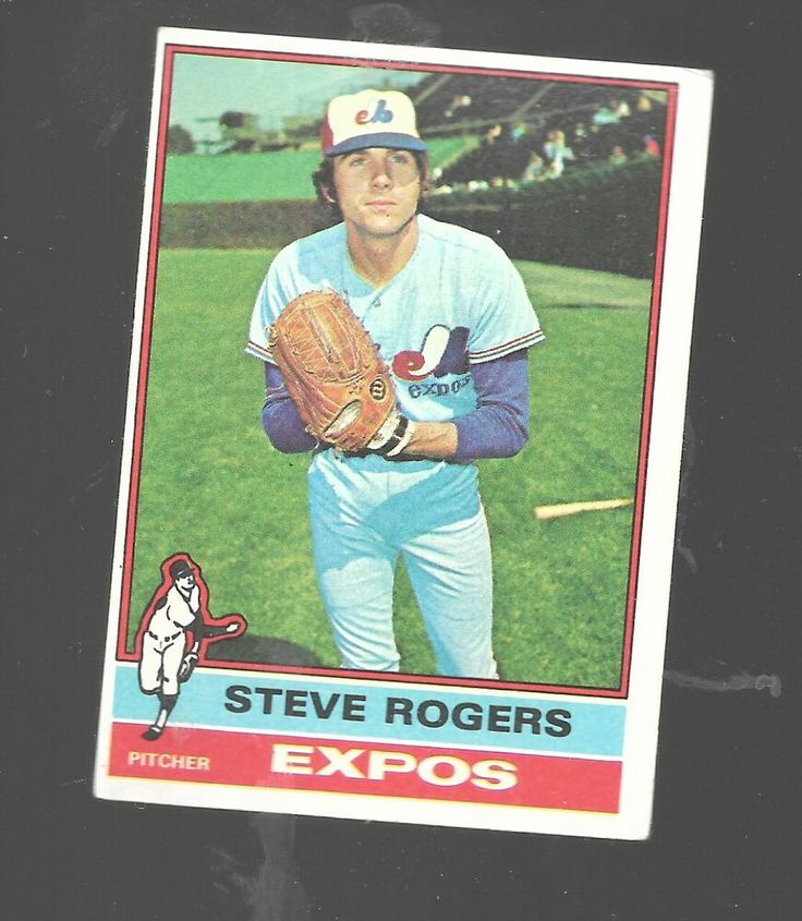 1976 Topps Steve Rogers 71 Montreal Expos Baseball Card