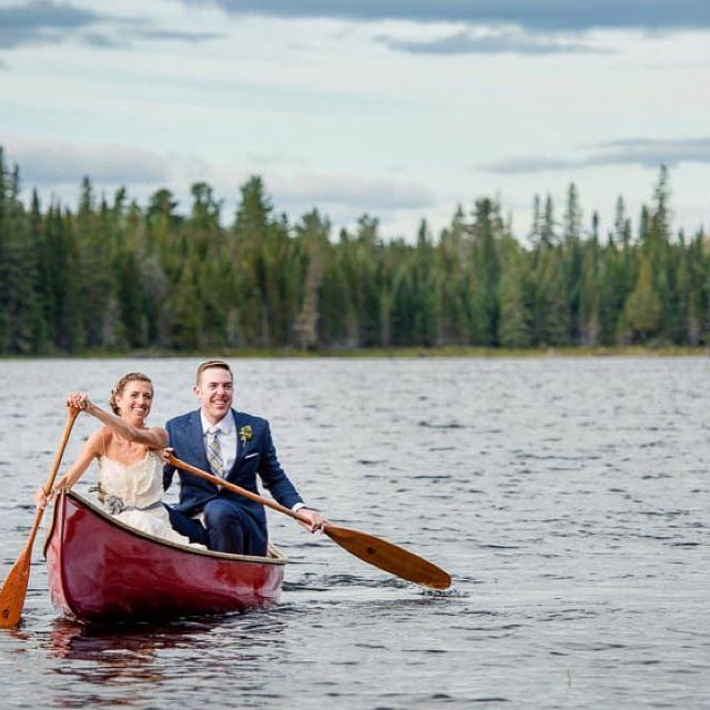 Paddle in! You know you want too. The Visual Roots wedding canoe helping another couple get their paddle in on their wedding day.  I love the angles the paddles make.