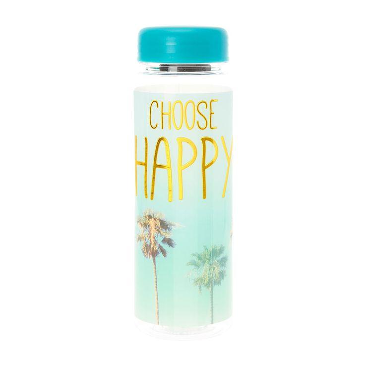 Choose Happy Water Bottle | Claire's