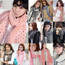 Мода девушки женщин шифоновый шарф Печатный Длинный мягкий шарф шаль Wrap шарфы