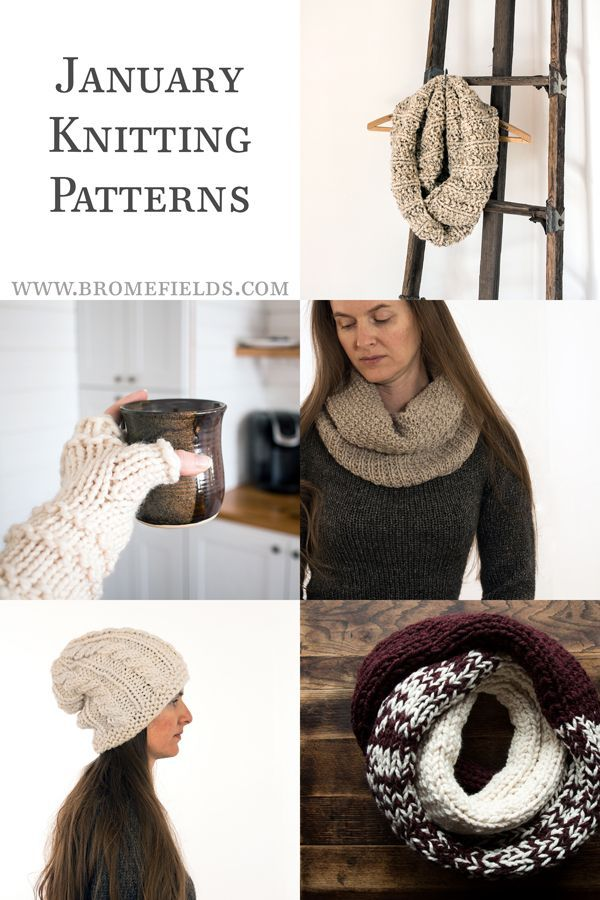 New Knitting Patterns for January by Brome Fields