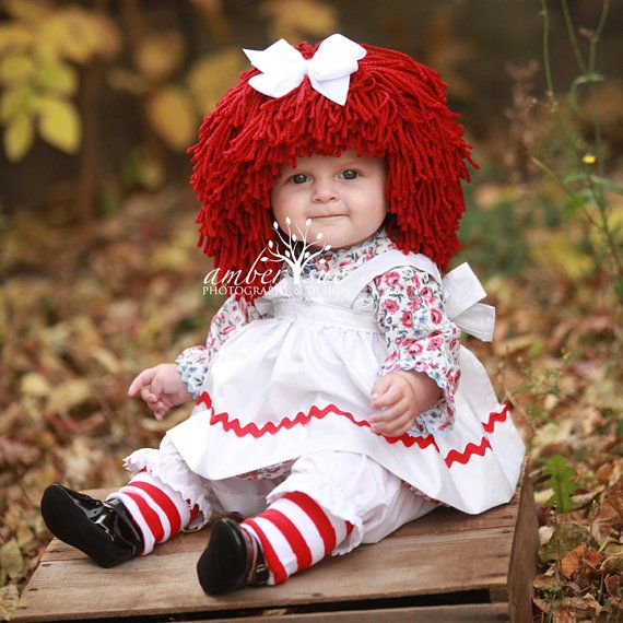 Raggedy Ann Wig Yarn Hat Available in all sizes by YumbabY on Etsy