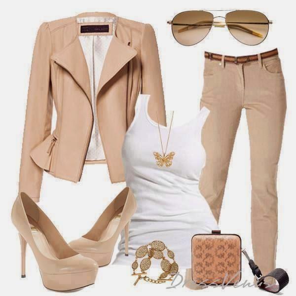 outfit con pantalon beige - Buscar con Google