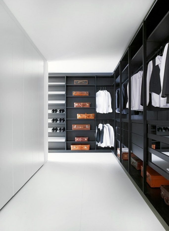 Moduli a giorno design by piero lissoni porro spa for Men s walk in wardrobe