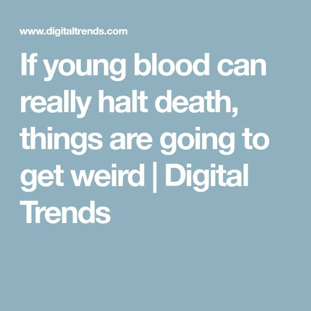 If young blood can really halt death, things are going to get weird | Digital Trends