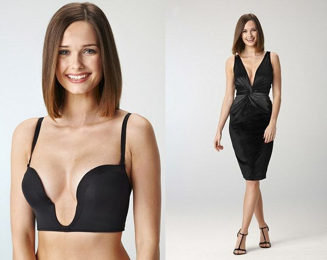 A perfect push-up U plunge bra for your Deep Plunge dresses. @ LooksGud.in