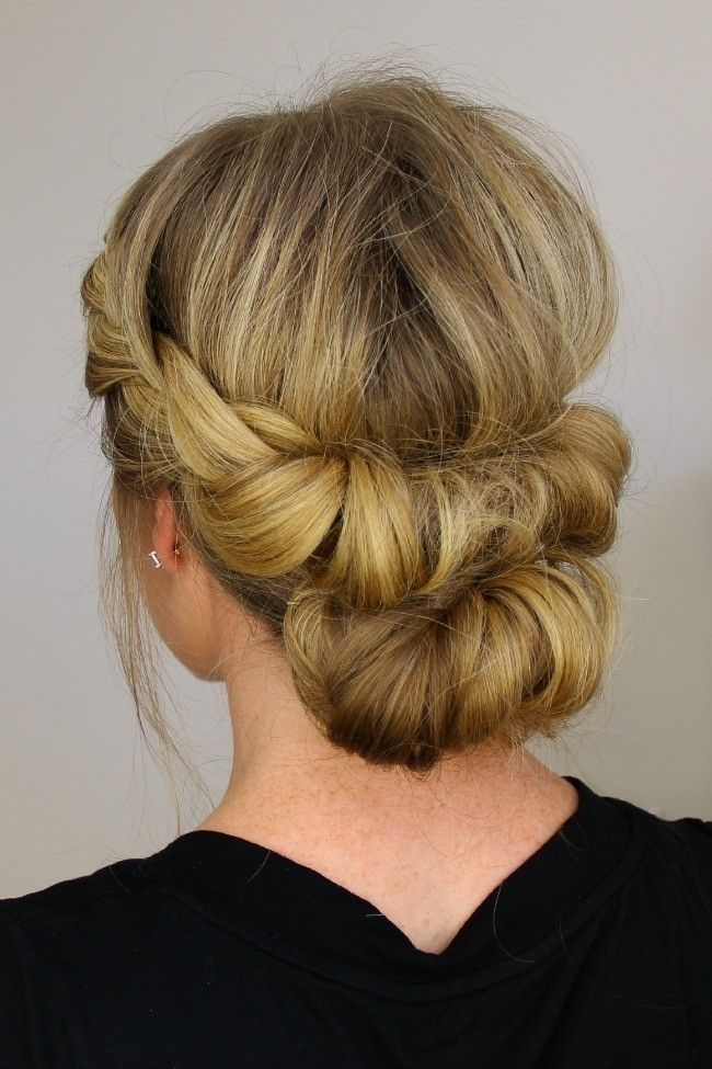 A gorgeous hairstyle for a night out or everday!  .  Free tutorial with pictures on how to style a chignon in under 20 minutes by hairstyling with hair ties. How To posted by msncook.  in the Beauty section Difficulty: 3/5. Cost: No cost. Steps: 6