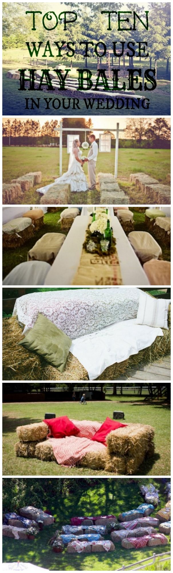 Ways to use hay bales at your wedding