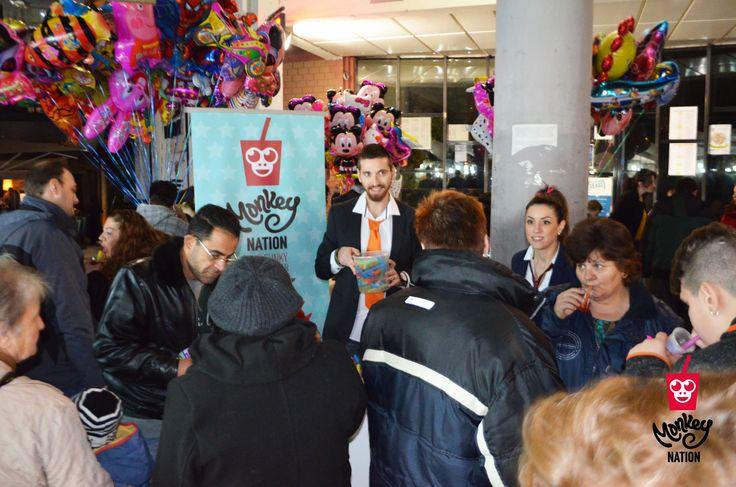 Bubble tea party at Monkey Nation Evosmos