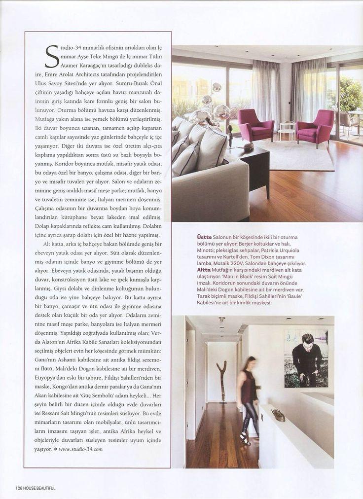 Önal House / Önal Evi  Ulus Savoy  by Studio-34 Ayşe Teke Mingü - Tülin Atamer Karaağaç House Beautiful  Haziran, 2014 / June, 2014 #studio-34 www.studio-34.com
