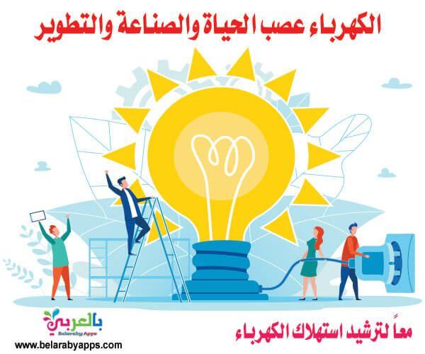 لافتات عن ترشيد استهلاك الكهرباء عبارات جميلة عن الكهرباء بالعربي نتعلم School Resources Poster Tomorrow Will Be Better