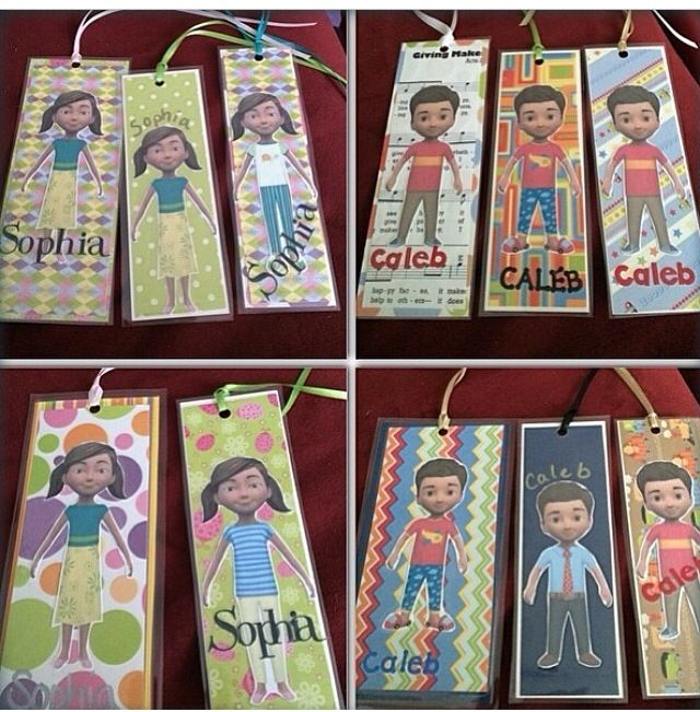 Caleb and Sophia  bookmarks