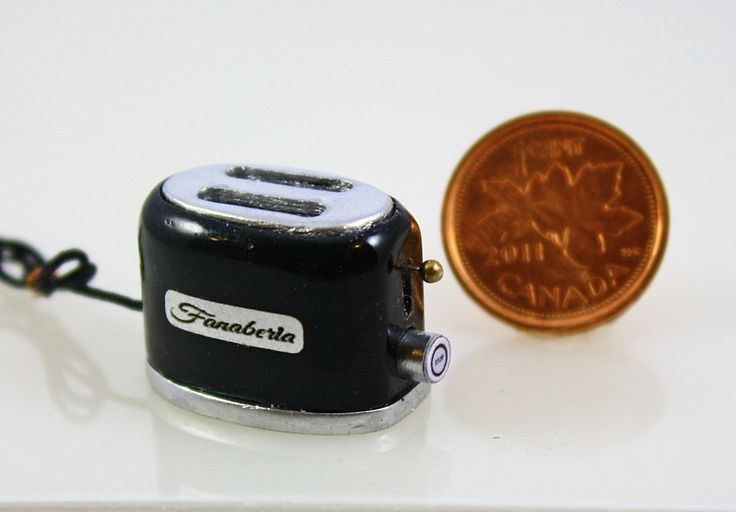 Handmade 1/12 scale retro looking mini toaster from Small Scale Showcase $37 USD  See the website for free shipping deal