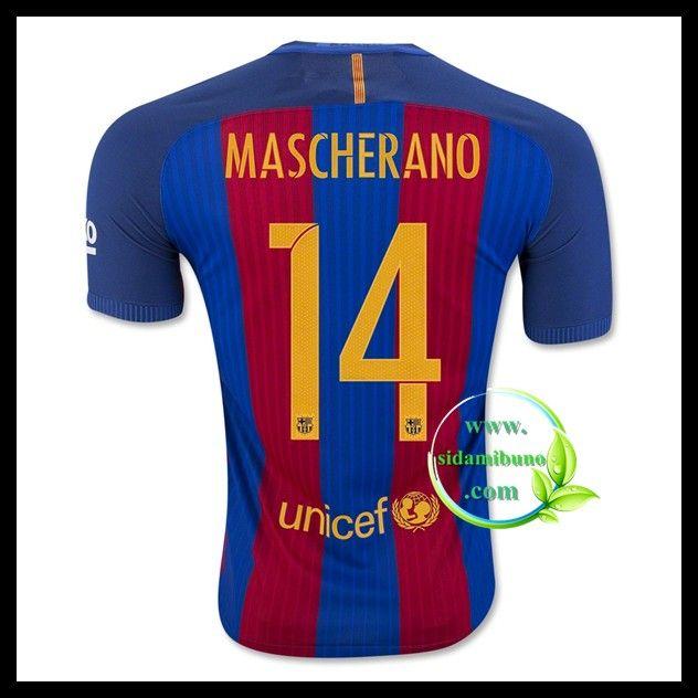 8050813bb65 2016 Argentina Home Soccer Jersey Mascherano 14 Fotballdrakter FC Barcelona  MASCHERANO 14 Hjemmedraktsett 2016-2017 ...