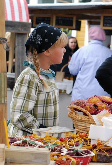 Old fashioned market day, arranged in September  (Photo: Kajsa Snickars)