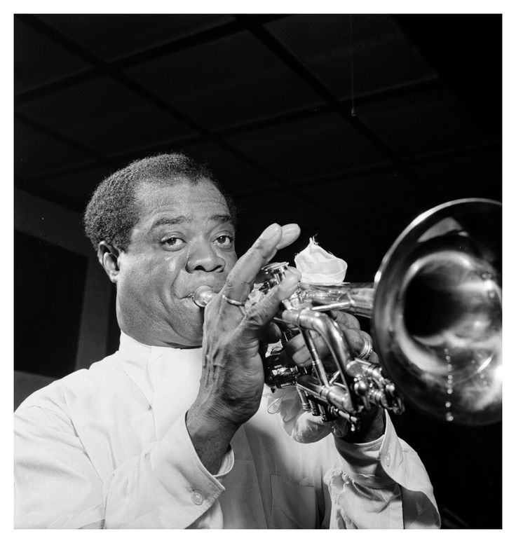 Louis Armstrong.Carnegie Hall, NYC 1947.  © William P.Gottlieb
