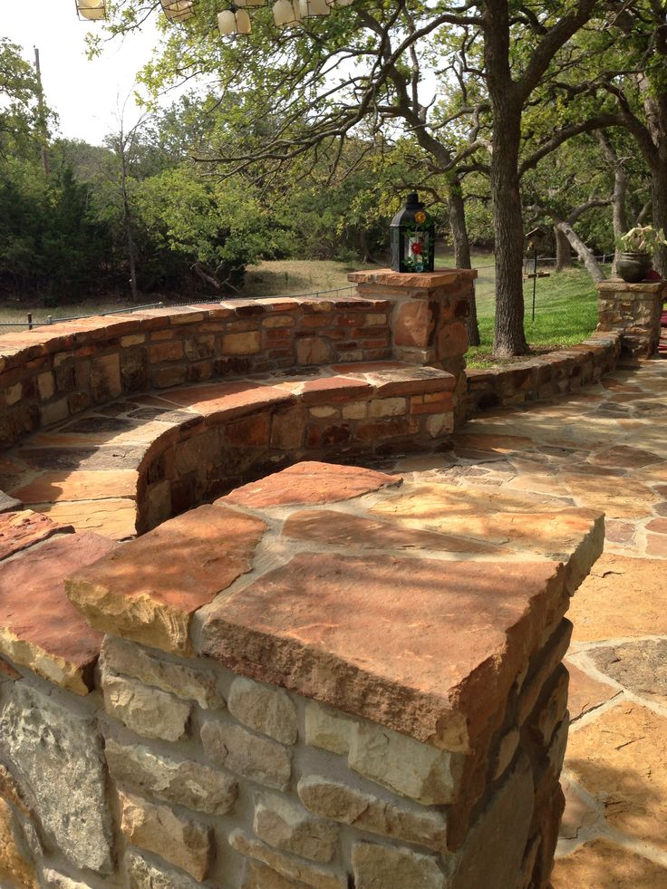 30 best images about outdoor seat on pinterest gardens Flagstone patios colleyville tx