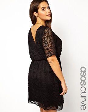 ASOS CURVE Skater Dress in Patterned Lace