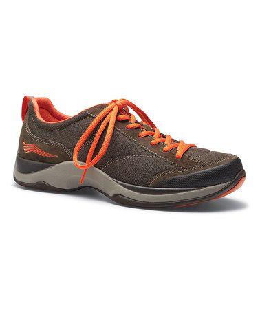 Brown & Orange Suede Sabrina Walking Shoe #zulilyfinds