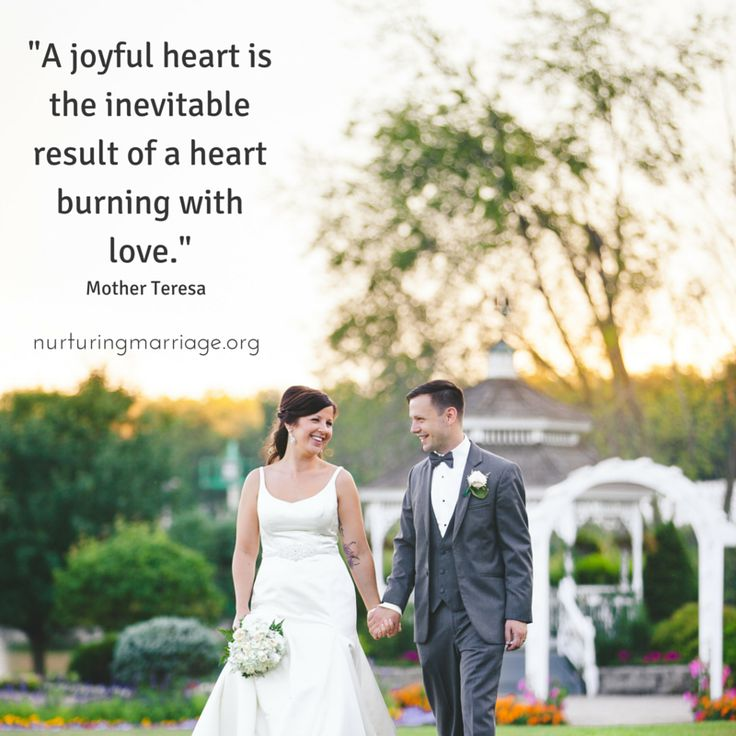 Mother Teresa Marriage Quotes: A Joyful Heart Is The Inevitable Result Of A Heart Burning