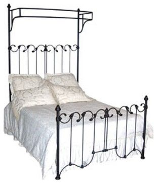 Custom Dijon French Canopy Bed, Queen - eclectic - Canopy Beds - One Hudson Road