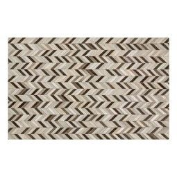 Our Herringbone Hide Rug is a great way to introduce the look of natural hide into your décor without dealing with the irregular shapes we're accustomed to seeing. We love the standard rug sizing, too. The variety of shades of ivory, khaki, grey and black gives our Hide Rug perceived depth, while the herringbone design provides visual interest.     •available sizes: 2' x 3', 5' x 8' and 8' x 10'  •100% hair on hide  •hand crafted  •felt backed  •rug pad recommended...