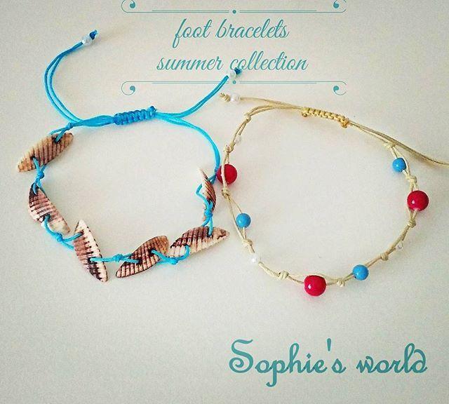 βραχιόλια για το ποδι, το σήμα κατατεθέν του καλοκαιριού!  Με κοχυλακια η χάντρες κ κουμπωμα μακραμε που προσαρμόζει στον αστράγαλο #sophiesworld #newcollection #coming #anklets #bracelets #summertime #instahandmade #anklebracelet #handmade #makrame #footjewelry #fashionaccessories για πληροφορίες κ παραγγελίες στην διάθεση σας