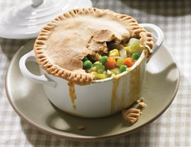 this was one of my first vegetarian meals! so delicious, and tastes just like chicken pot pie...without the cute little chickens!