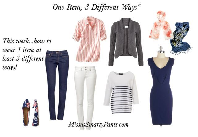 Ideas for creating lots of spring outfits using only a few key pieces!