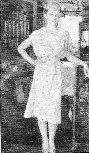 Rare photo of Madonna modeling for the New York tabloid paper Village Voice