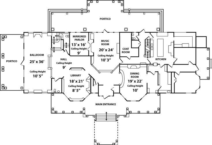 Floor plan of Endicott Estate   Wedding Bells   Pinterest