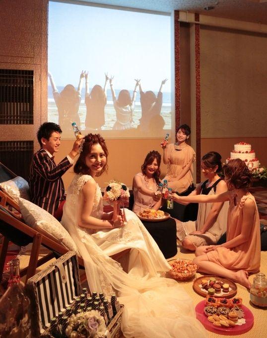 【福岡県久留米市 ホテルニュープラザKURUME・ウェディング】友達と楽しむ♪グランピング風フォトスポット!