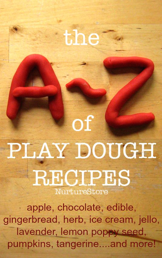 So many different play dough recipes! easy play dough recipe :: no cook play dough :: chocolate play dough recipe :: cinnamon play dough :: lots more!