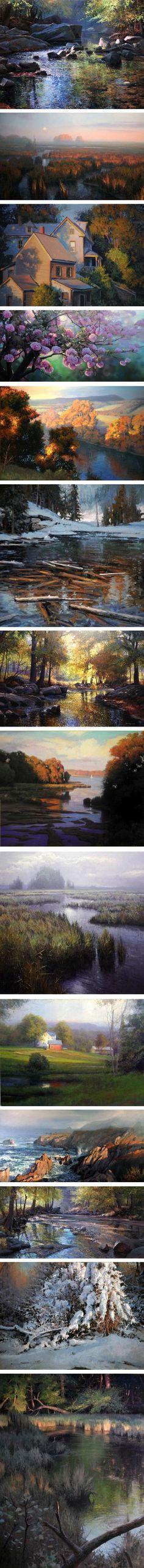 Michael Godfrey, landscape paintings