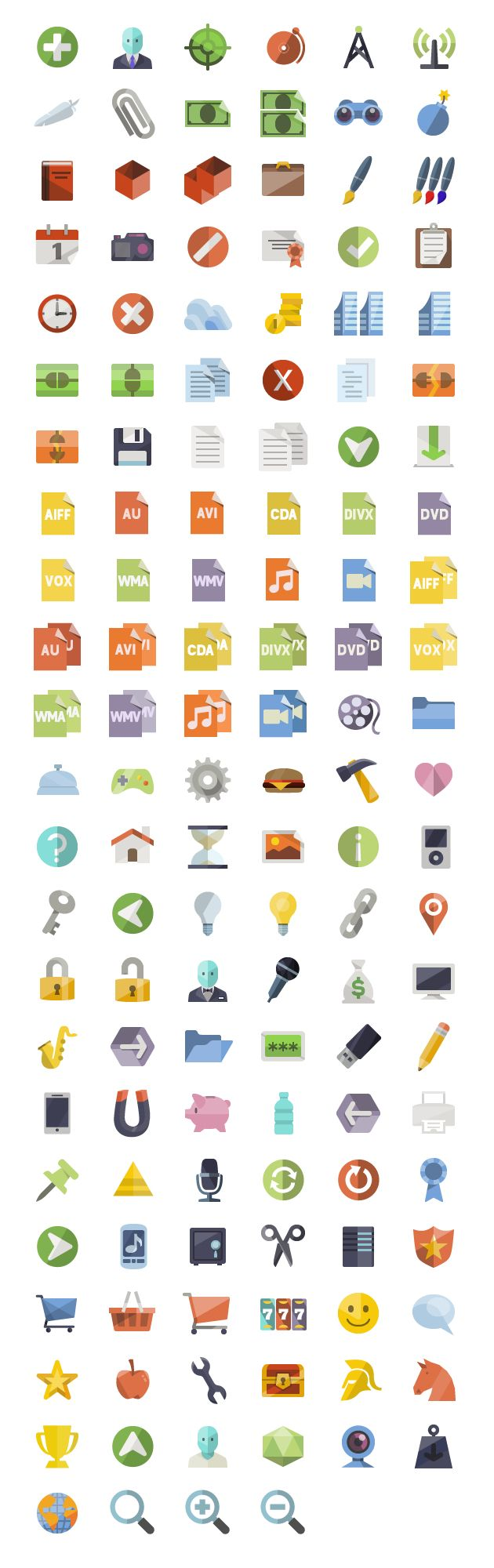 Over 3600 free Flat Icons for commercial or personal use