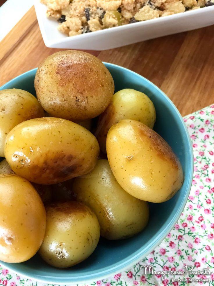 Batata Bolinha na Manteiga ou Azeite, para ver a receita, clique na imagem para ir ao Manga com Pimenta.