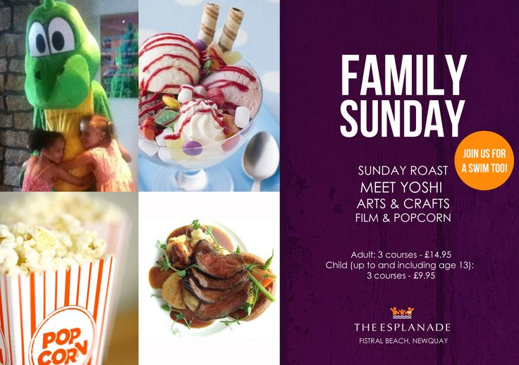 Family Sunday's are back at The Esplanade #newquay #family #roast #sundays #cornwall