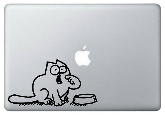 Simon's Cat computer decal  Catproof Your Computer free 30gb storage with code CATPROOF at https://www.surdoc.com/sign-up/?promo=catproof