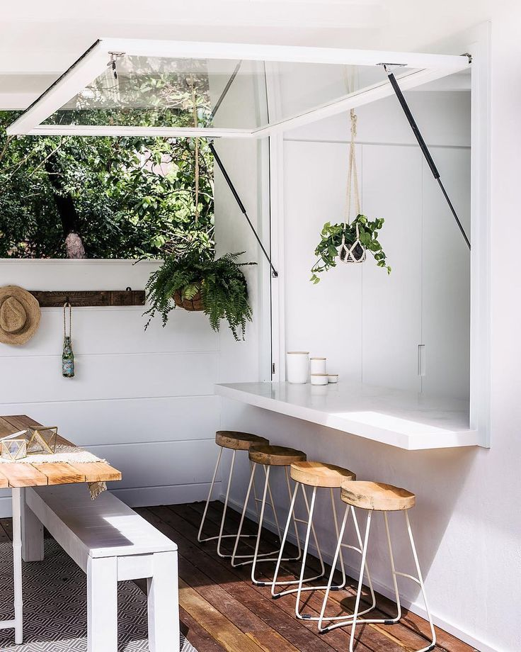 Insert us here. Crushing on this amazing outdoor eating area by @threebirdsrenovations today. ""