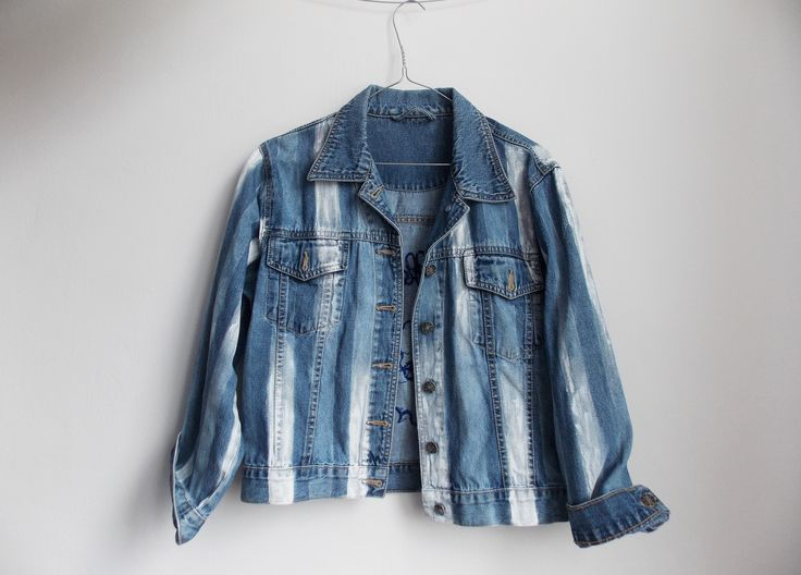 """Collect moments"" jacket #denim #jacket #handmade #intishopromania"